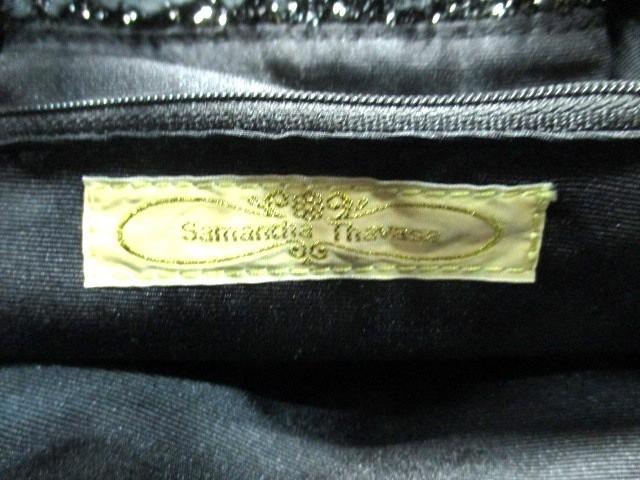 サマンサタバサ Samantha Thavasa ハンドバッグ レディース 美品 黒 化学繊維×合皮【中古】