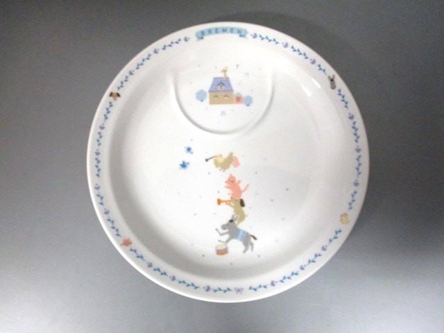 ナルミ NARUMI プレート レディース 新品同様 白×ブルー×マルチ TECHNOCERAM 陶器【中古】