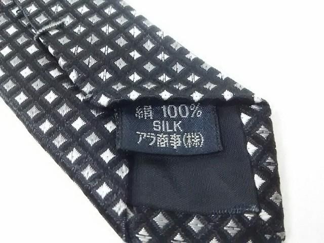 バーバリーロンドン Burberry LONDON ネクタイ メンズ 美品 黒×ダークグレー×白【中古】