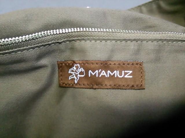 マミューズ MAMUZ トートバッグ レディース ブラウン×シルバー エナメル(合皮)×ワイヤー【中古】