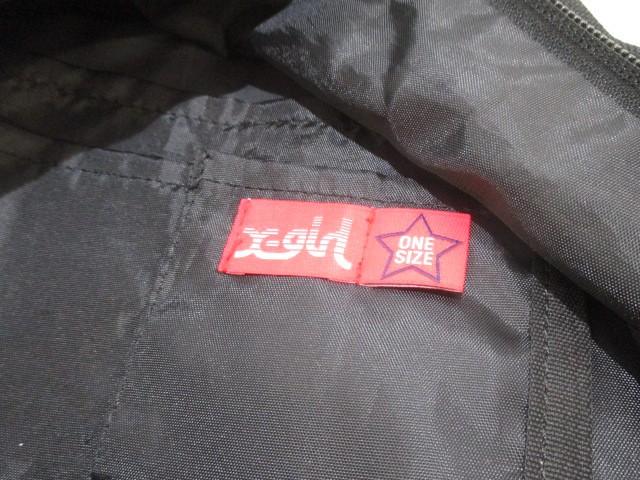 エックスガール X-GIRL リュックサック レディース 黒 刺繍 ポリエステル【中古】