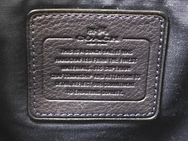 コーチ COACH ハンドバッグ レディース ペブルドレザースモールケルシーサッチェル F36675 ダークネイビー レザー【中古】