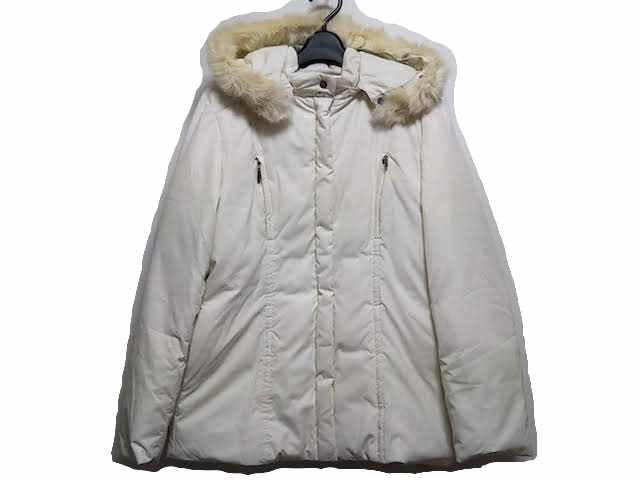 ジェイプレス J.PRESS ダウンジャケット サイズ9 M レディース 白 冬物/ジップアップ【】20191230