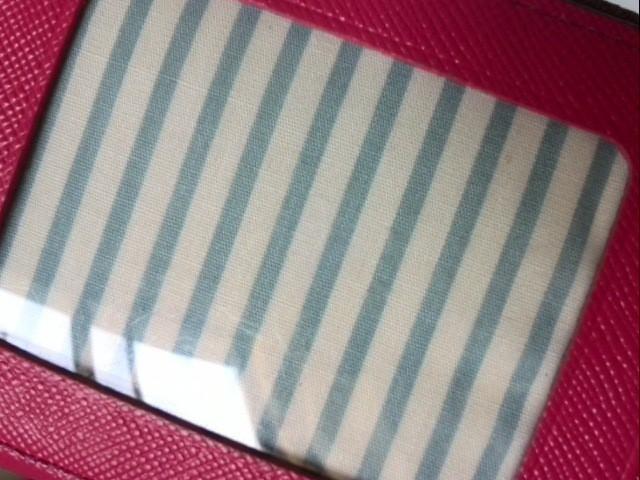 サマンサタバサプチチョイス Samantha Thavasa Petit Choice 財布 レディース ピンク×ダークブラウン パスケース付き レザー【中古】