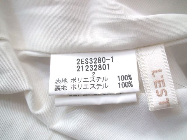 レストローズ L'EST ROSE ワンピース サイズ2 M レディース 白×ライトグリーン×ピンク 花柄/リボン【中古】