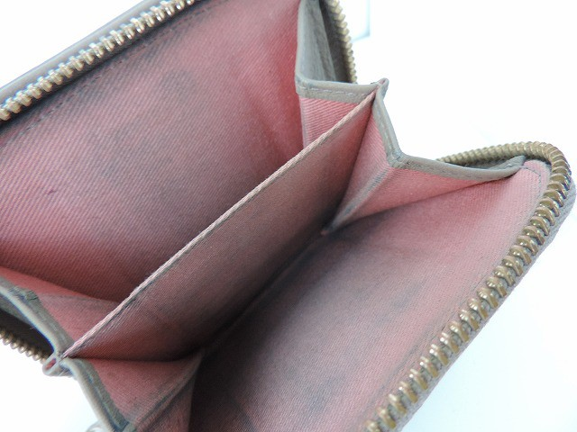 シーバイクロエ SEE BY CHLOE 2つ折り財布 レディース グレー リボン レザー【中古】