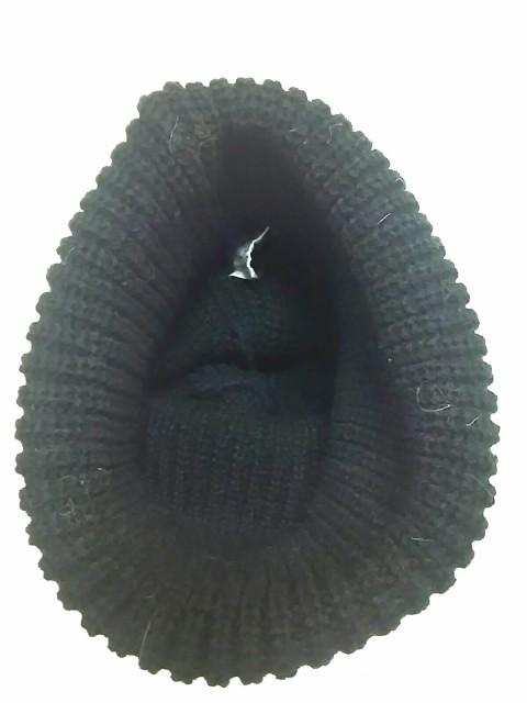 イルビゾンテ IL BISONTE ニット帽 レディース 黒×ライトブラウン アクリル【中古】