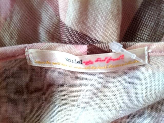 スナイデル snidel ワンピース サイズF レディース アイボリー×ピンク×ダークブラウン チェック柄/レース【中古】