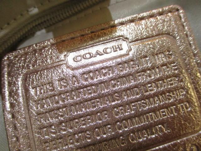 コーチ COACH クラッチバッグ レディース ガーネット メタリック クラッチバッグ 14210 ピンクゴールドレザー【中古】