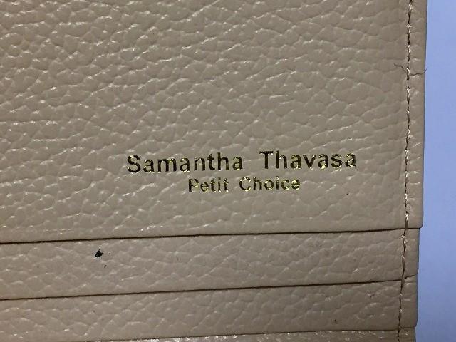 サマンサタバサプチチョイス Samantha Thavasa Petit Choice 長財布 レディース アイボリー×ピンク×ベージュ リボン 合皮【中古】