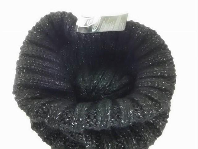 ジースターロゥ G-STAR RAW ニット帽 レディース 黒×シルバー アクリル×指定外繊維×ナイロン【中古】
