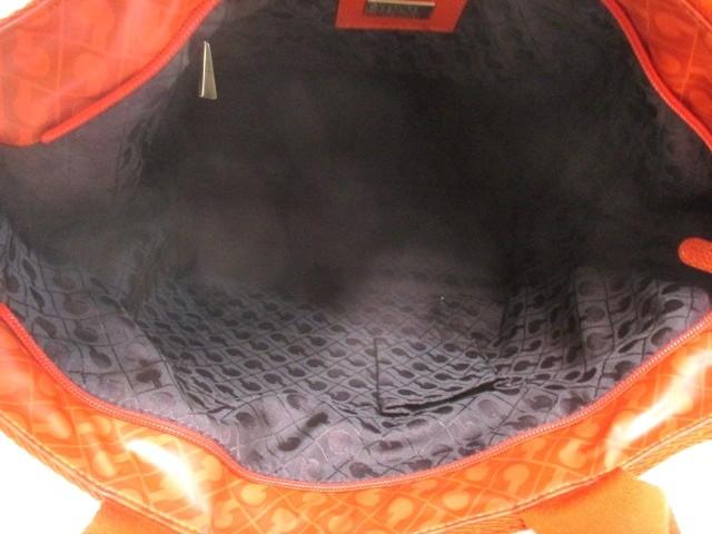 ゲラルディーニ GHERARDINI ハンドバッグ レディース レッドオレンジ PVC(塩化ビニール)×レザー【中古】