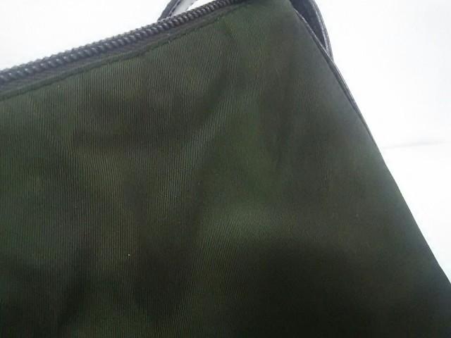 プラダ PRADA ショルダーバッグ レディース - カーキ×ダークブラウン ナイロン×レザー【中古】