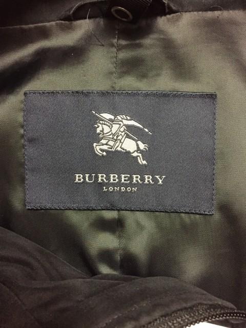 バーバリーロンドン Burberry LONDON コート サイズL レディース 黒 冬物【中古】