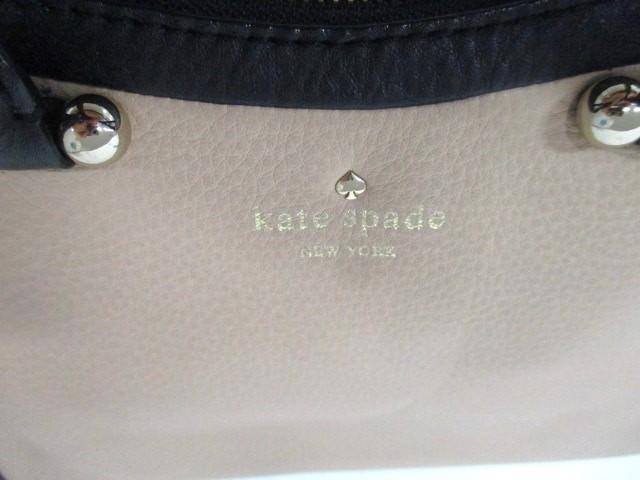 ケイトスペード Kate spade ハンドバッグ レディース ベージュ×黒 レザー【中古】