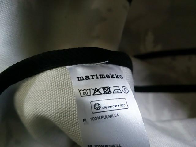 マリメッコ marimekko トートバッグ レディース 黒×ライトピンク×パープル キャンバス【中古】