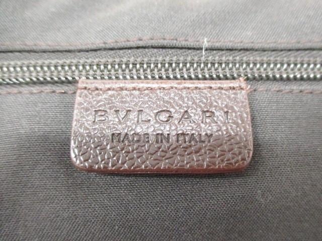 ブルガリ BVLGARI キャリーバッグ レディース - ダークブラウン レザー【中古】