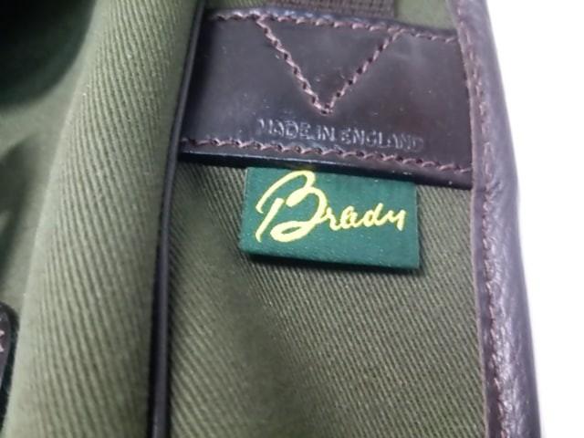 ブレディ Brady ショルダーバッグ レディース カーキ×ダークブラウン キャンバス×レザー【中古】