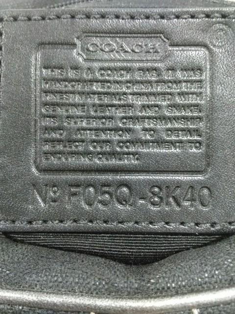 コーチ COACH ハンドバッグ レディース 美品 シグネチャー柄 8K40 黒×シルバー ジャガード×レザー【中古】