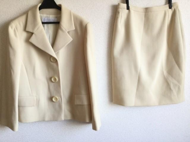 ジェニー GENNY スカートスーツ サイズ42 L レディース 美品 アイボリー【中古】