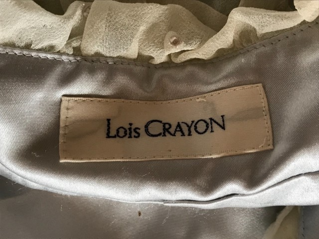 ロイスクレヨン Lois CRAYON ボレロ サイズM レディース アイボリー×ライトブルー×ピンク 刺繍【中古】