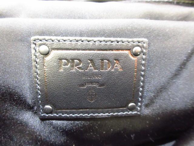 プラダ PRADA ハンドバッグ レディース 美品 - B4521V カーキ×黒 革タグ ナイロン×レザー【中古】