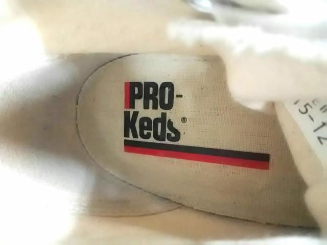 プロケッズ PRO-Keds スニーカー レディース アイボリー×ネイビー×レッド ハイカット キャンバス【中古】