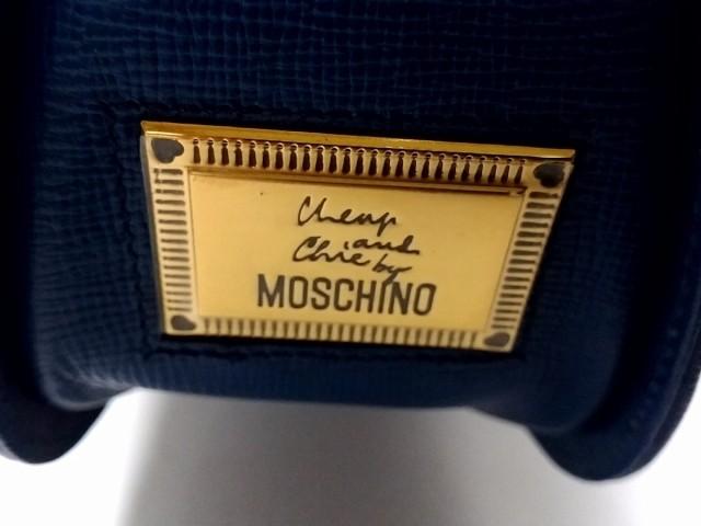モスキーノ チープ&シック MOSCHINO CHEAP&CHIC ショルダーバッグ レディース ブルー レザー【中古】