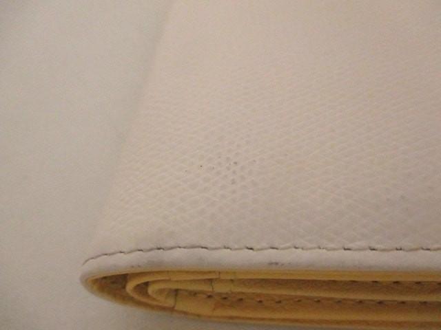 サマンサタバサプチチョイス Samantha Thavasa Petit Choice Wホック財布 レディース 美品 白×イエロー フラワー 合皮【中古】