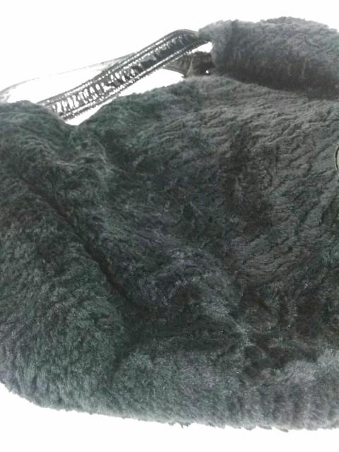アニエスベー agnes b トートバッグ レディース 黒 フェイクファー PVC(塩化ビニール)×ポリエステル【中古】