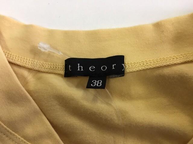 セオリー theory 半袖カットソー サイズ38(C) レディース 新品同様 イエロー【中古】