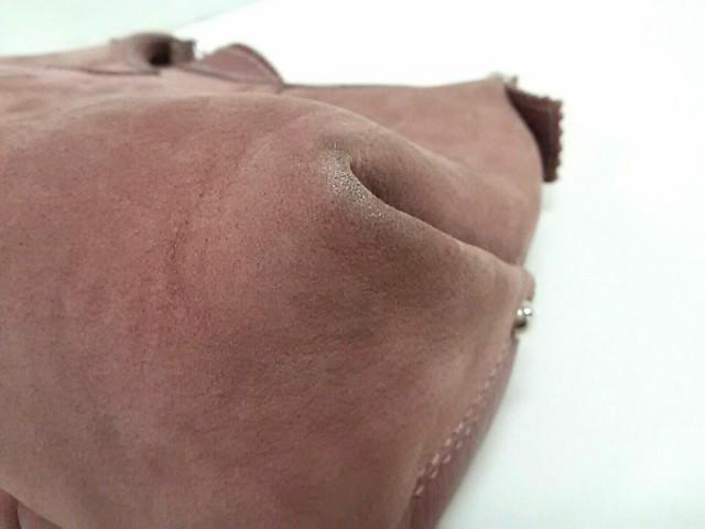 ギンザカネマツ GINZA Kanematsu ショルダーバッグ レディース 美品 ピンク ヌバック×レザー【中古】