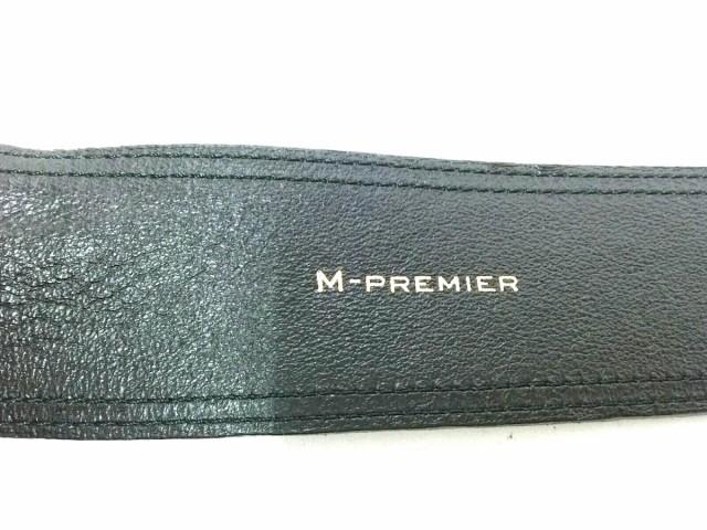 エムプルミエ M-PREMIER ベルト レディース 黒 スエード×エナメル(合皮)【中古】