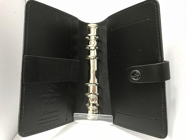 ファイロファックス Filofax 手帳 レディース THE ORIGINAL 黒 レザー【中古】