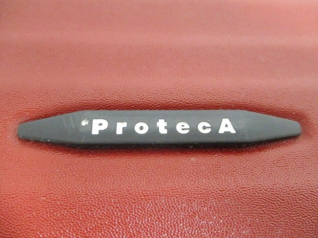 プロテカ ProtecA トランクケース レディース レッド ポリカーボネート樹脂【中古】