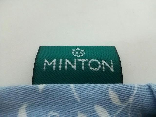 ミントン MINTON ポーチ レディース ブルー×アイボリー×マルチ 巾着 コットン【中古】