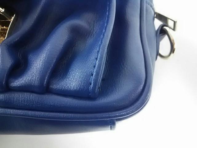 セシルマクビー CECILMcBEE ショルダーバッグ レディース 美品 ブルー チェーンショルダー 合皮【中古】