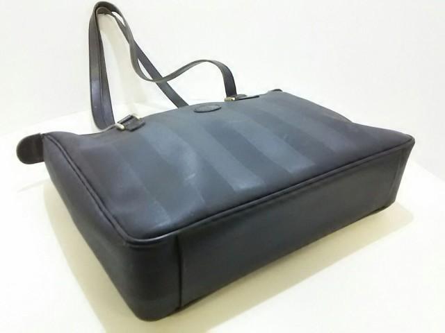 フェンディ FENDI ショルダーバッグ レディース ペカン 黒 PVC(塩化ビニール)×レザー【中古】