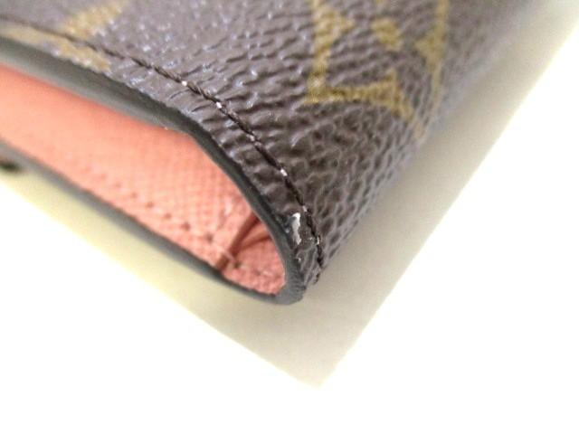 ルイヴィトン 3つ折り財布 モノグラム レディース 美品 ポルトフォイユ・ヴィクトリーヌ M62360 ローズ・バレリーヌ【中古】