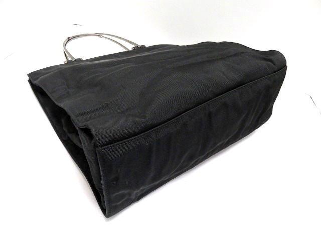 グッチ GUCCI ハンドバッグ レディース ホースビット 0021025 黒 ナイロン【中古】