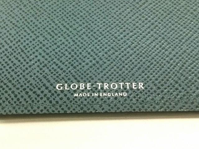 グローブトロッター GLOBE TROTTER 長財布 レディース 美品 ジェット ブルーグレー レザー【中古】