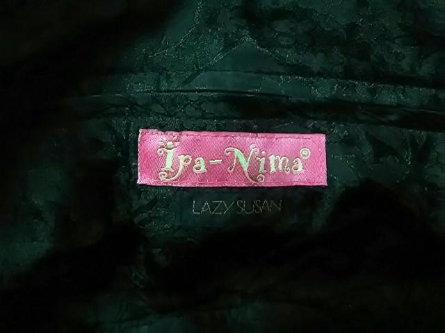 イパニマ Ipa-Nima ハンドバッグ レディース ベージュ×黒×ダークブラウン ビーズ コットン×ベロア【中古】