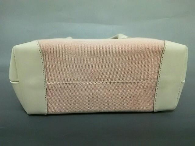 キタムラ KITAMURA ハンドバッグ レディース 美品 ピンク×白 キャンバス×レザー【中古】
