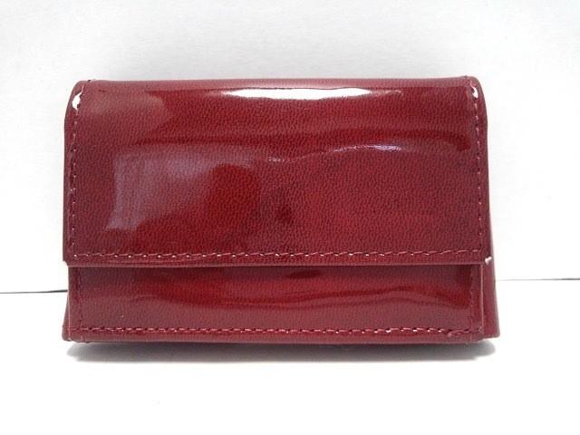 06f747f543d7 ブリー BREE 3つ折り財布 レディース レッド×黒 ミニサイズ エナメル(合 ...