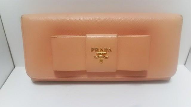 16ea40dc775a プラダ PRADA 長財布 レディース - 1M1132 ピンク リボン レザー【中古 ...