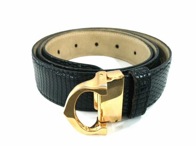 online store b017e dbf8c カルティエ Cartier ベルト レディース 黒×ゴールド 型押し加工 ...