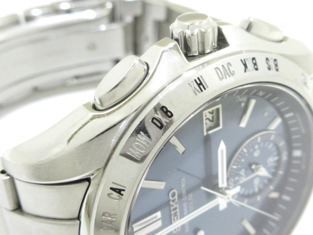 73db295340 セイコー SEIKO 腕時計 ブライツ 8B54-0AA0 メンズ ネイビー【中古】の ...