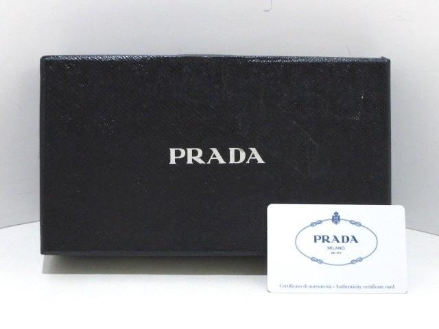 02175cae380f プラダ PRADA 長財布 レディース 美品 - 1ML506 黒 ラウンドファスナー/リボン/ロゴ