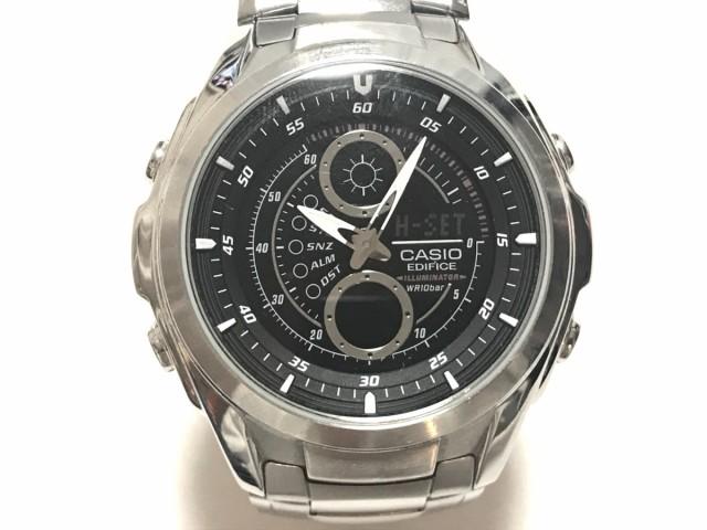 d09c90f7ee カシオ CASIO 腕時計 エディフィス EFA-116 メンズ クロノグラフ 黒【中古】