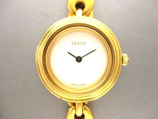 3734f5cecb6d グッチ GUCCI 腕時計 美品 11/12.2 レディース 白【中古】の通販はWowma ...